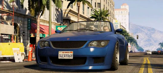 GTA 5 Blue Car