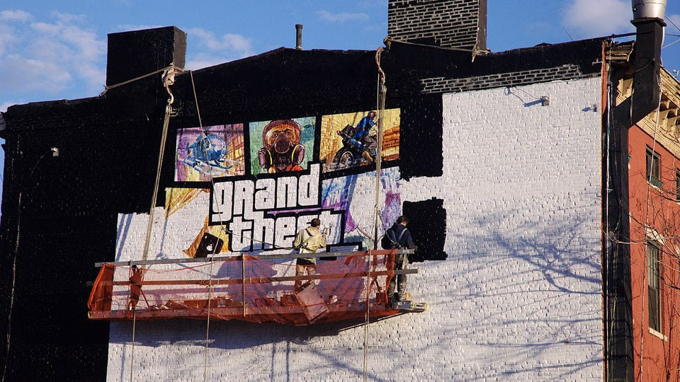 Gta 5 cover art mural in nyc gta 5 cheats