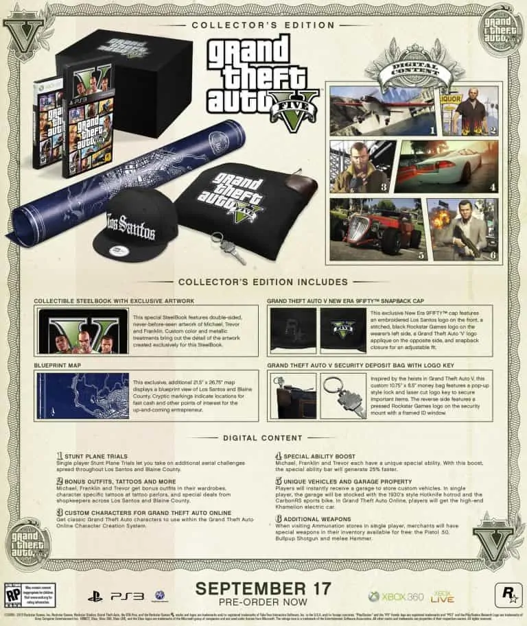 Gta 5 special and collector editions priced and detailed gta boom rockstar games has today announced details of the special and collectors editions of grand theft auto v and from a guy who doest usually bother with these malvernweather Images