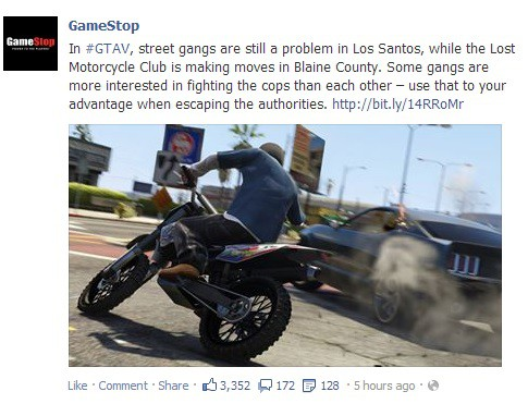 ... to be back, big time, in Grand Theft Auto V. According to GameStop