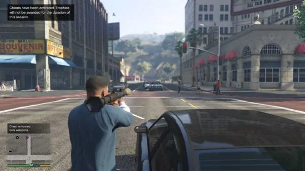 Using the rocket launcher with GTA 5 Cheats PC