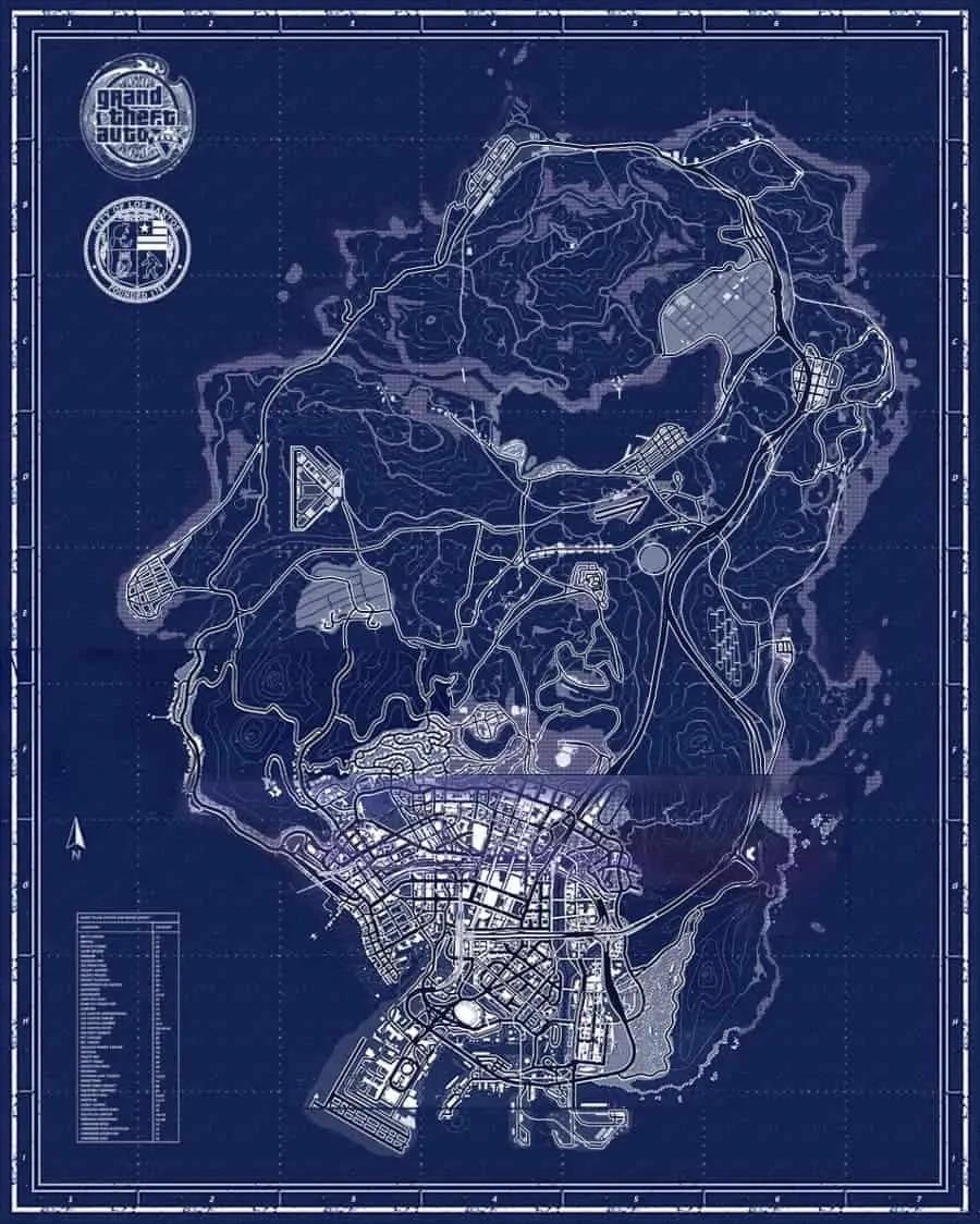 A Closer Look at the GTA 5 Map Los Santos GTA 5 Cheats