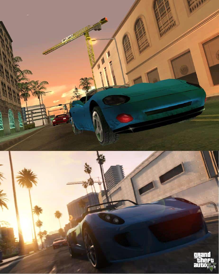 Screenshot Comparison Gta San Andreas Vs Gta V Gta Boom