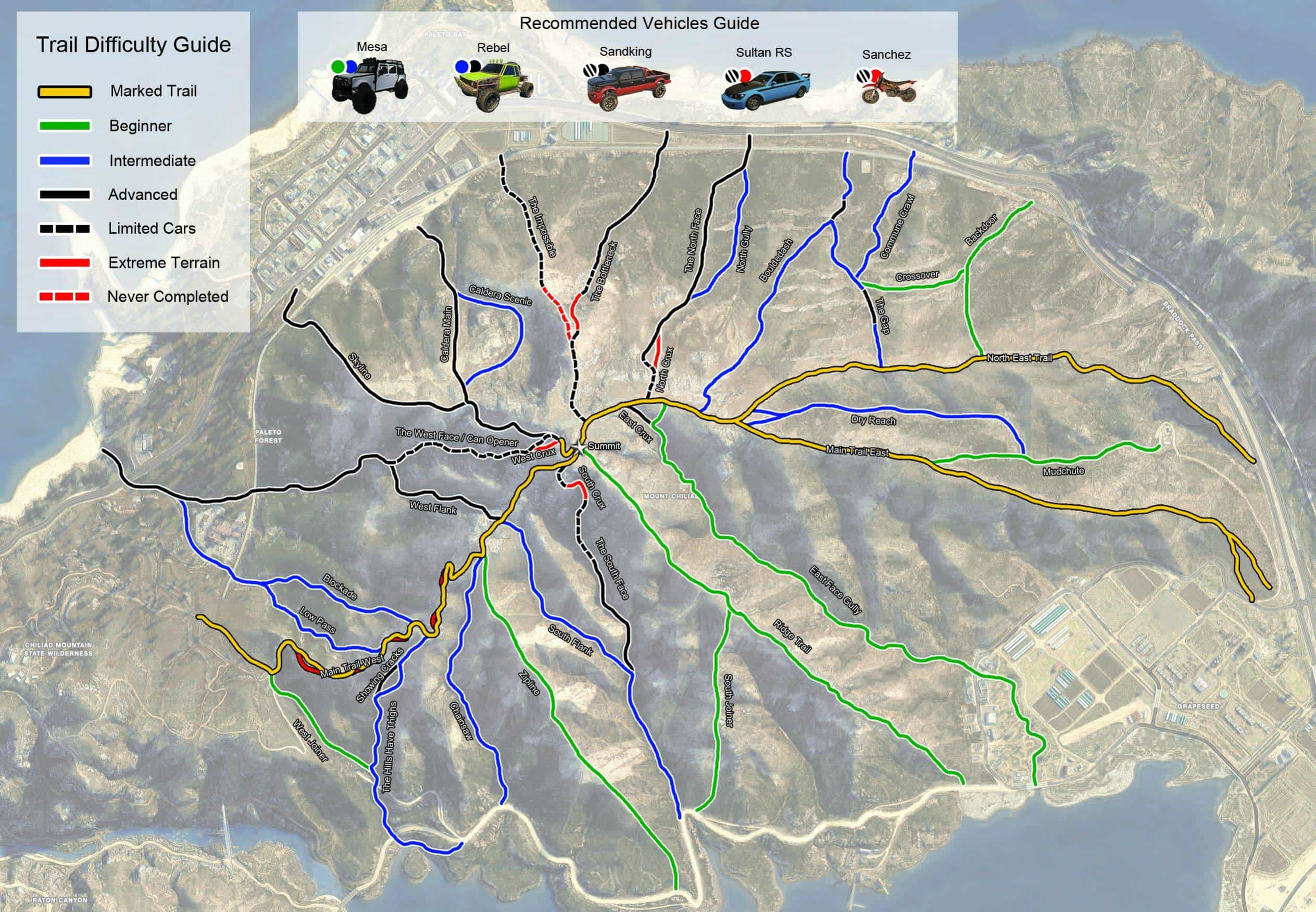 GTA Trail Guide for Off-Road Mountain Climbing - GTA BOOM