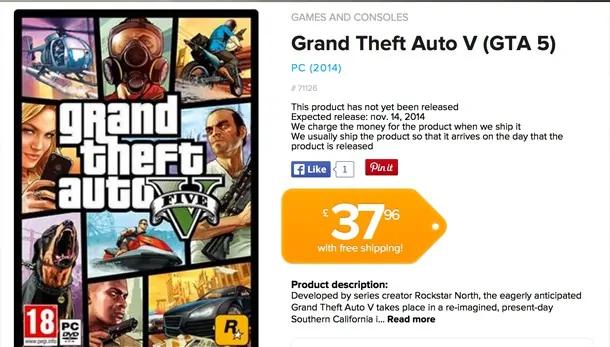 GTA V PC release date screenshot