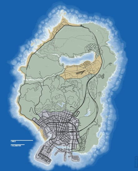 GTA V map scale 2