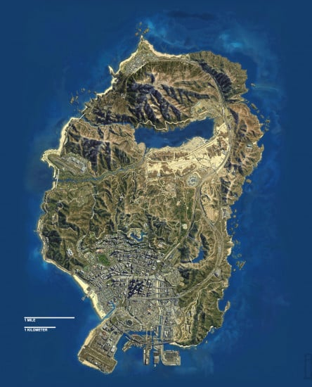 GTA V map scale 3
