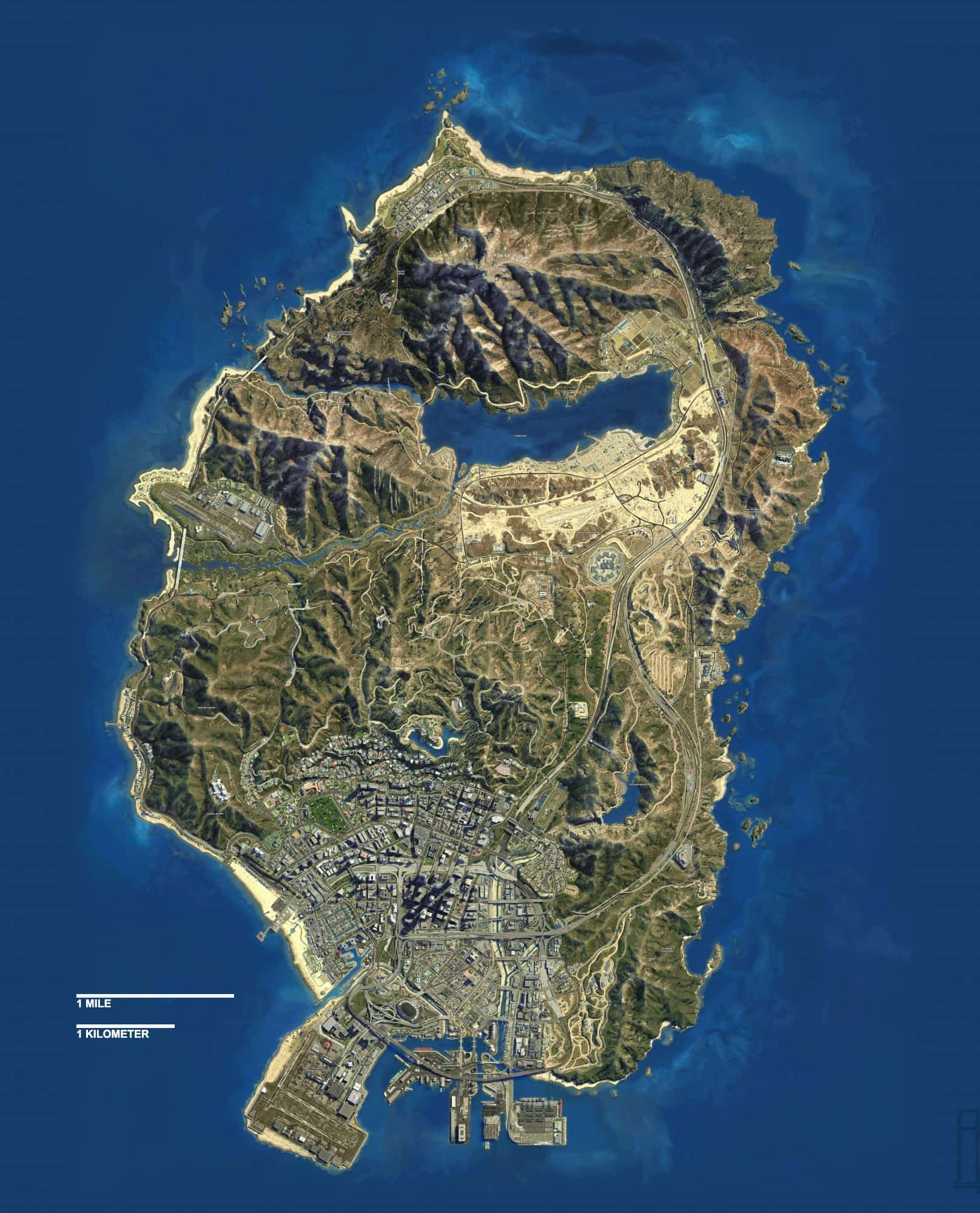 Fan Creates GTA V Map With The Correct Scale