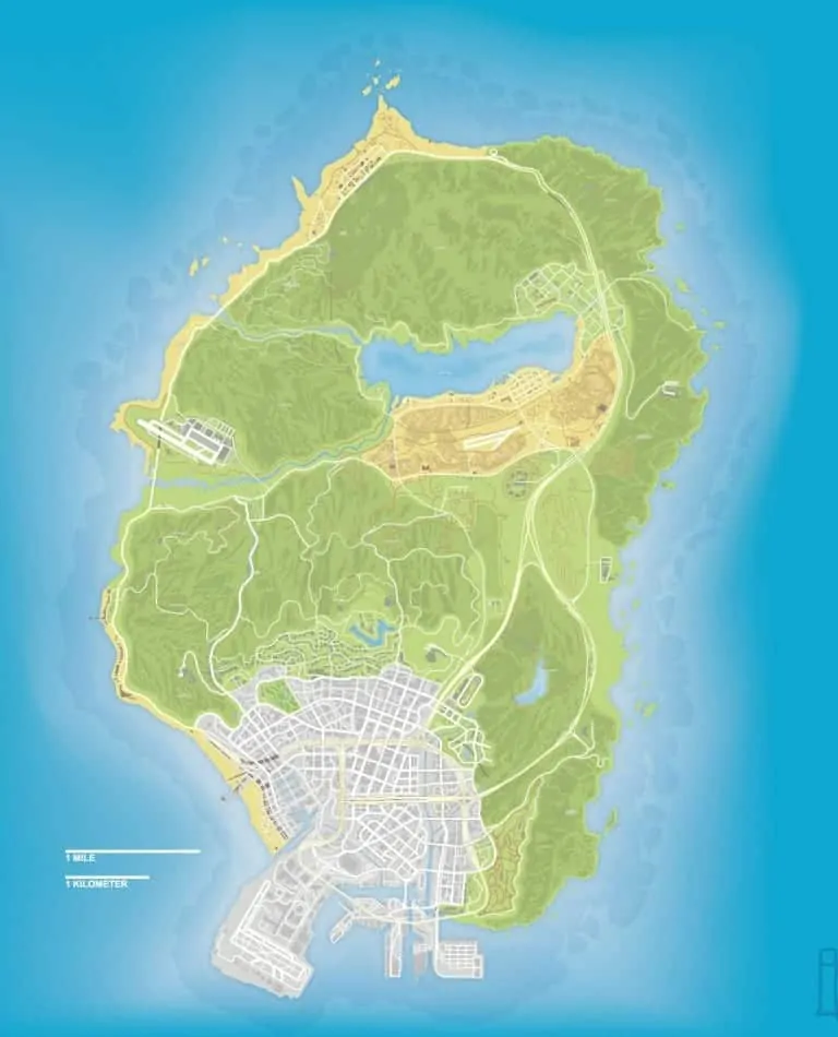 Fan Creates GTA V Map With The Correct Scale GTA BOOM - World map to scale