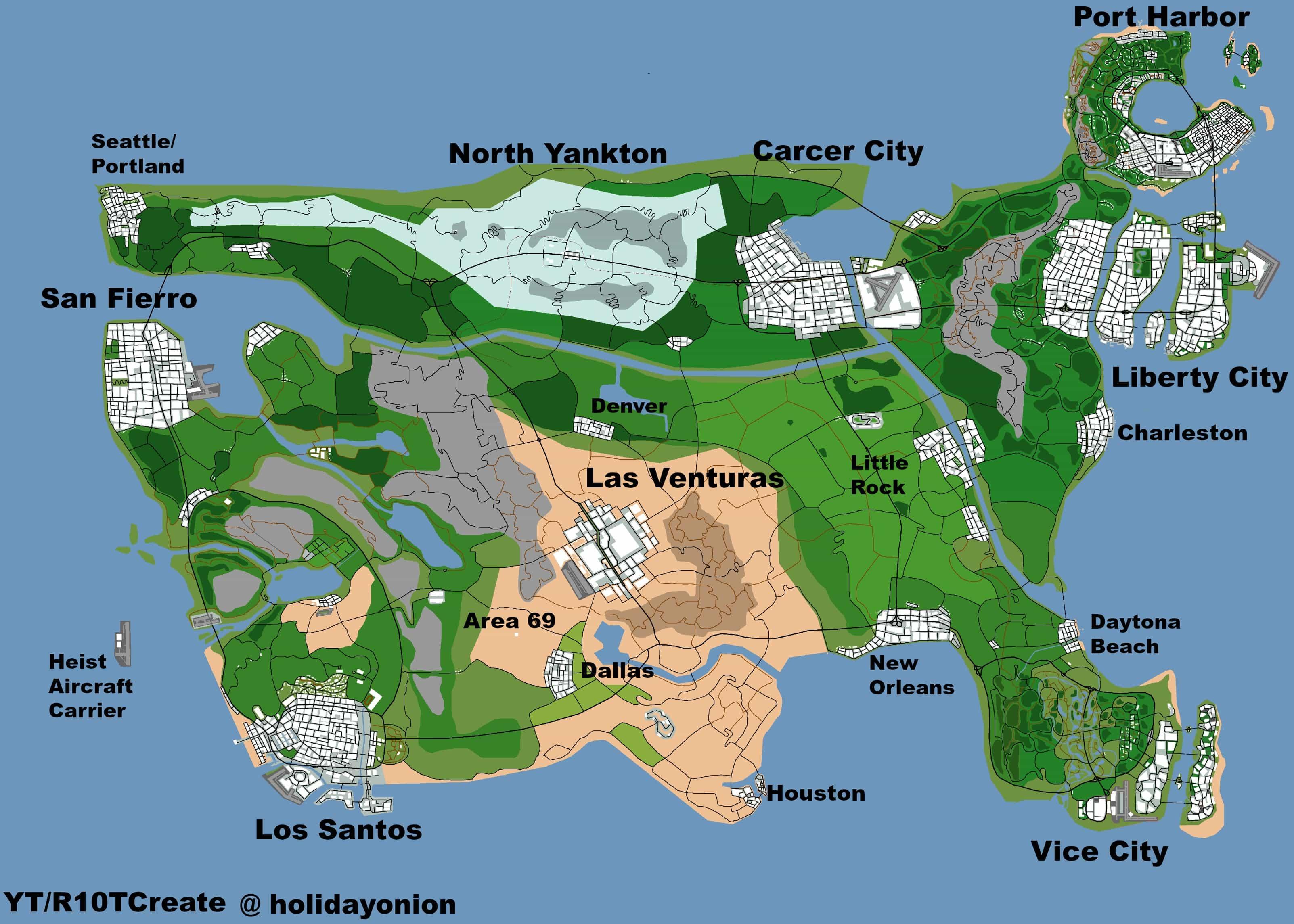 Concept Map Shows a GTA United States   GTA BOOM