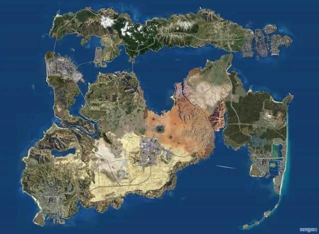 gta san andreas gta 5 map