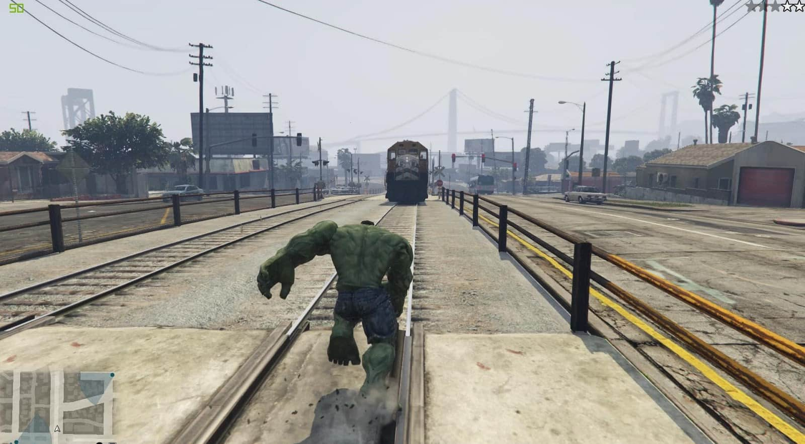GTA V Meets The Incredible Hulk    Twice - GTA BOOM