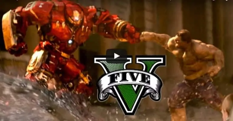 The Hulkbuster And Hulk Duke It Out In GTA V - GTA BOOM