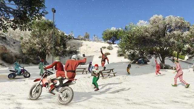 Gta 5 Christmas.Snow Arrives In Gta Online Gta Boom
