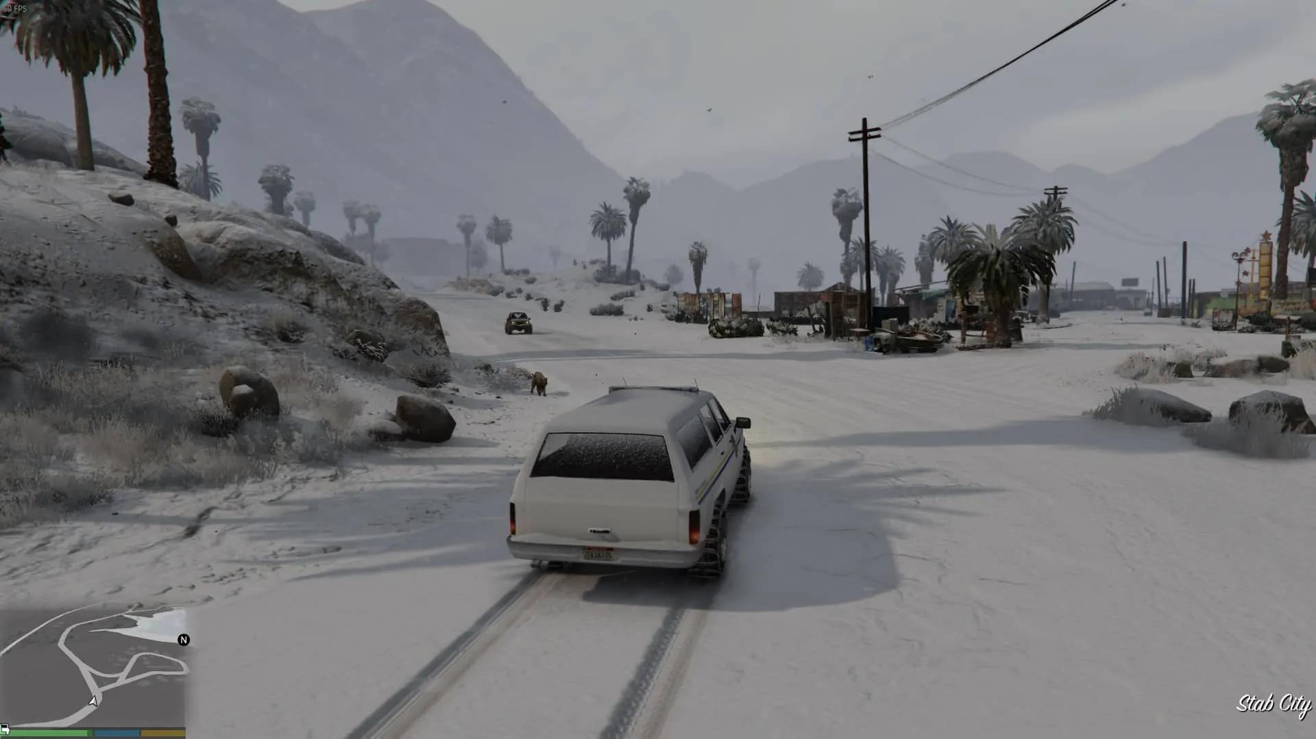 GTA Online's Snow Modded Into Single Player - GTA BOOM