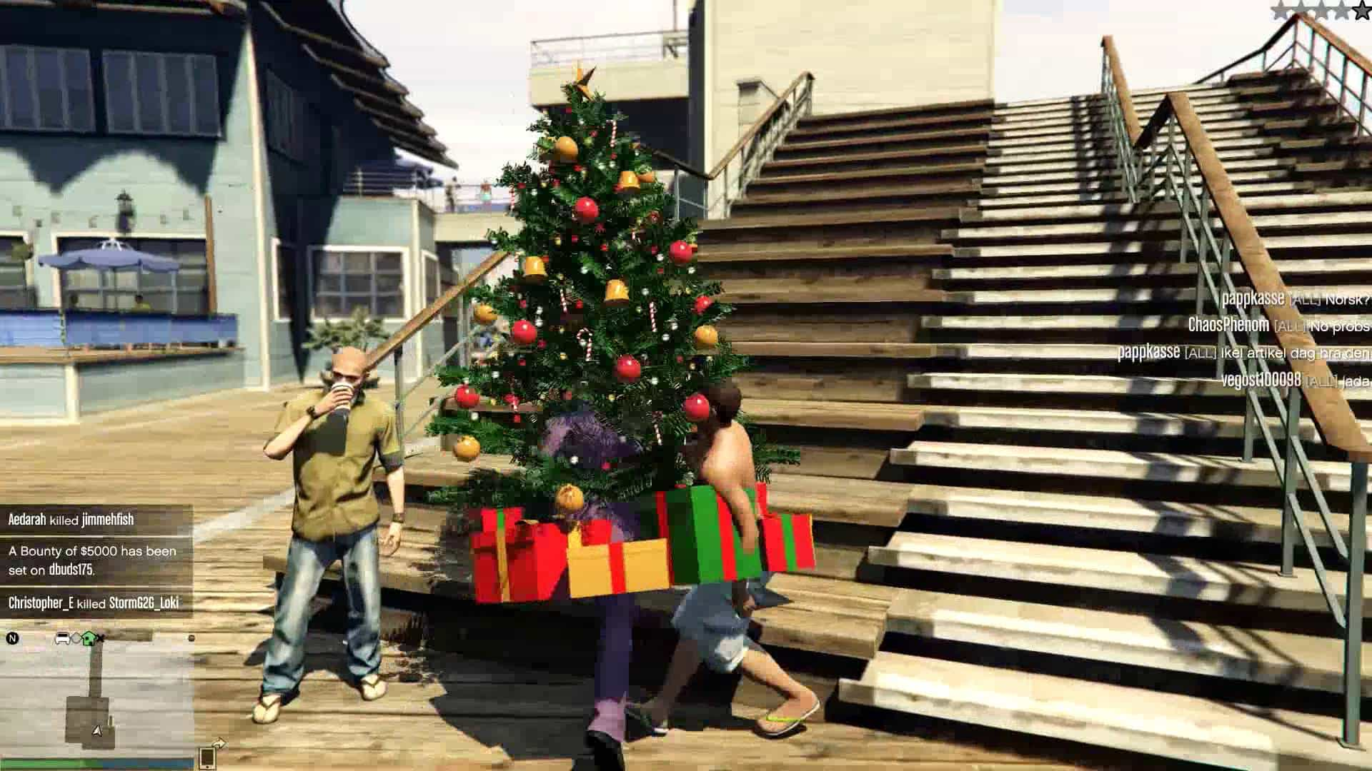 to be their interpretation of a joke the hackers currently running rampant in gta online have taken to gifting players large wearable christmas trees - Gta V Christmas