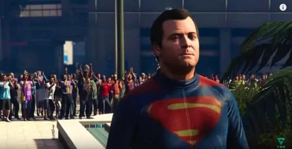 Michael as Superman