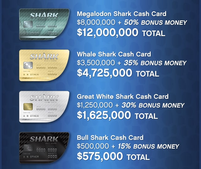 Gta Online Shark Cards Give More In Game Cash Gta Boom