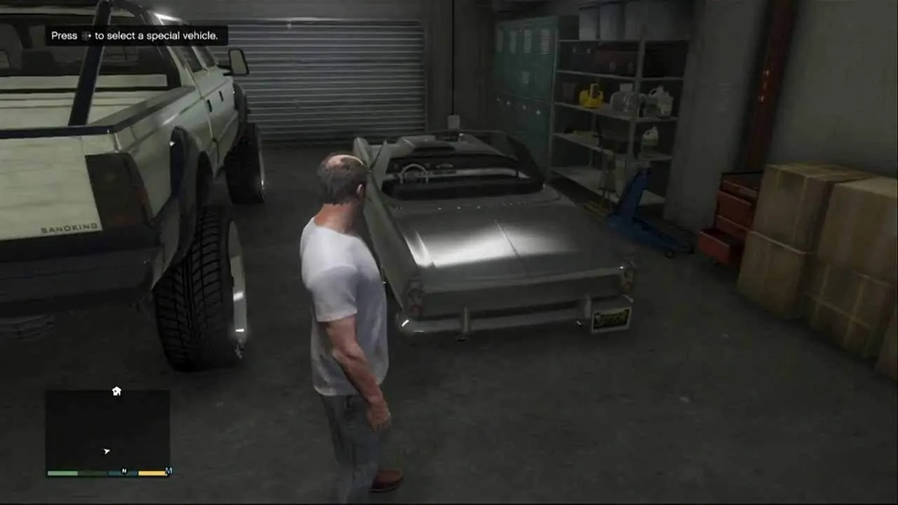 gta v special cars in garage ps4