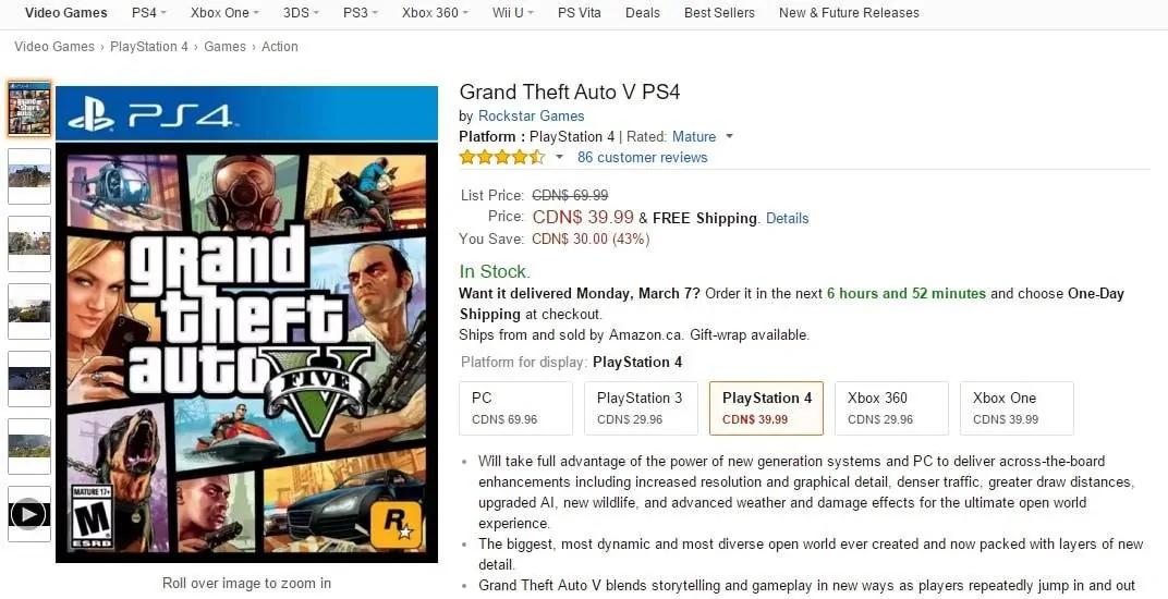 GTA V's Current-Gen Editions On Sale - GTA BOOM