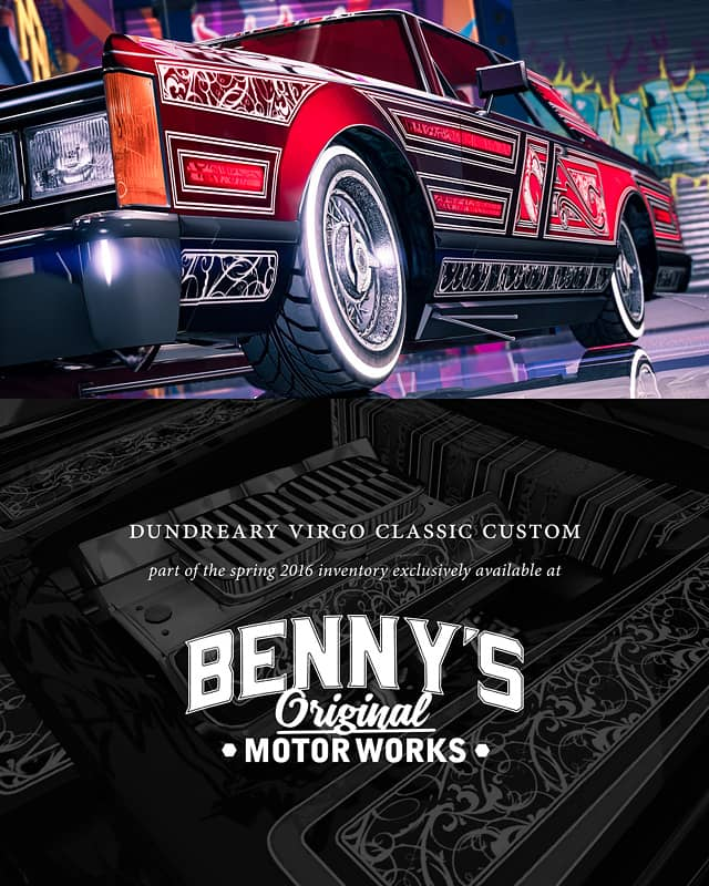GTA Online Update Adds New Cars To Benny's