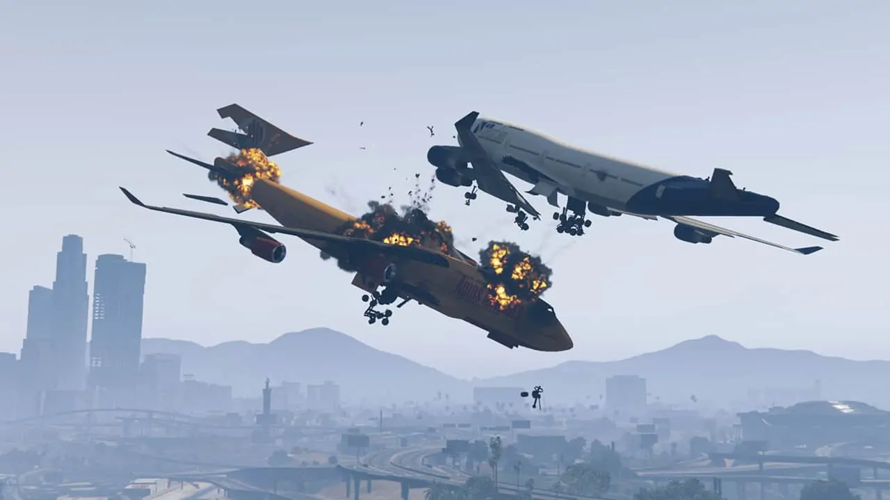 Gta v 39 s planes now crash dynamically mod gta 5 cheats for Airplane plans