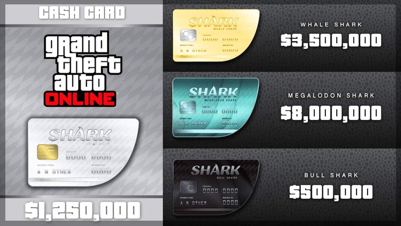 ps4 shark cards codes
