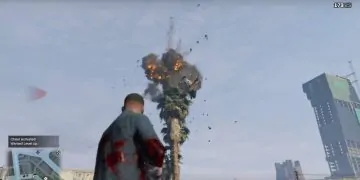 Blowing stuff up using the Xbox One GTA 5 cheats