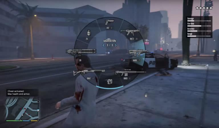 gta 5 cheat code for minigun ps4