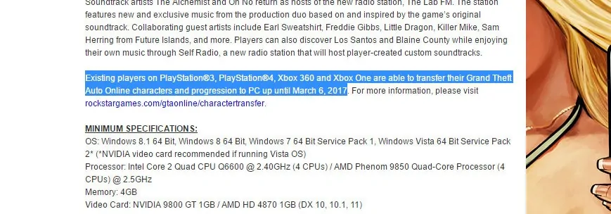gta 5 character transfer xbox to pc