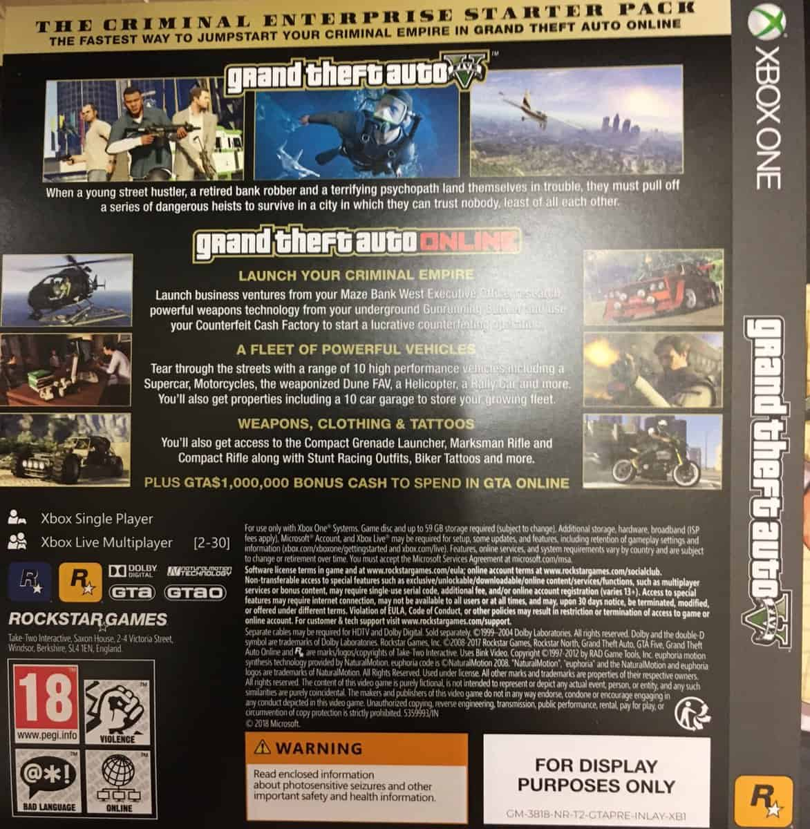 GTA 5 Premium Online Edition Confirmed By Box Shots, Available At