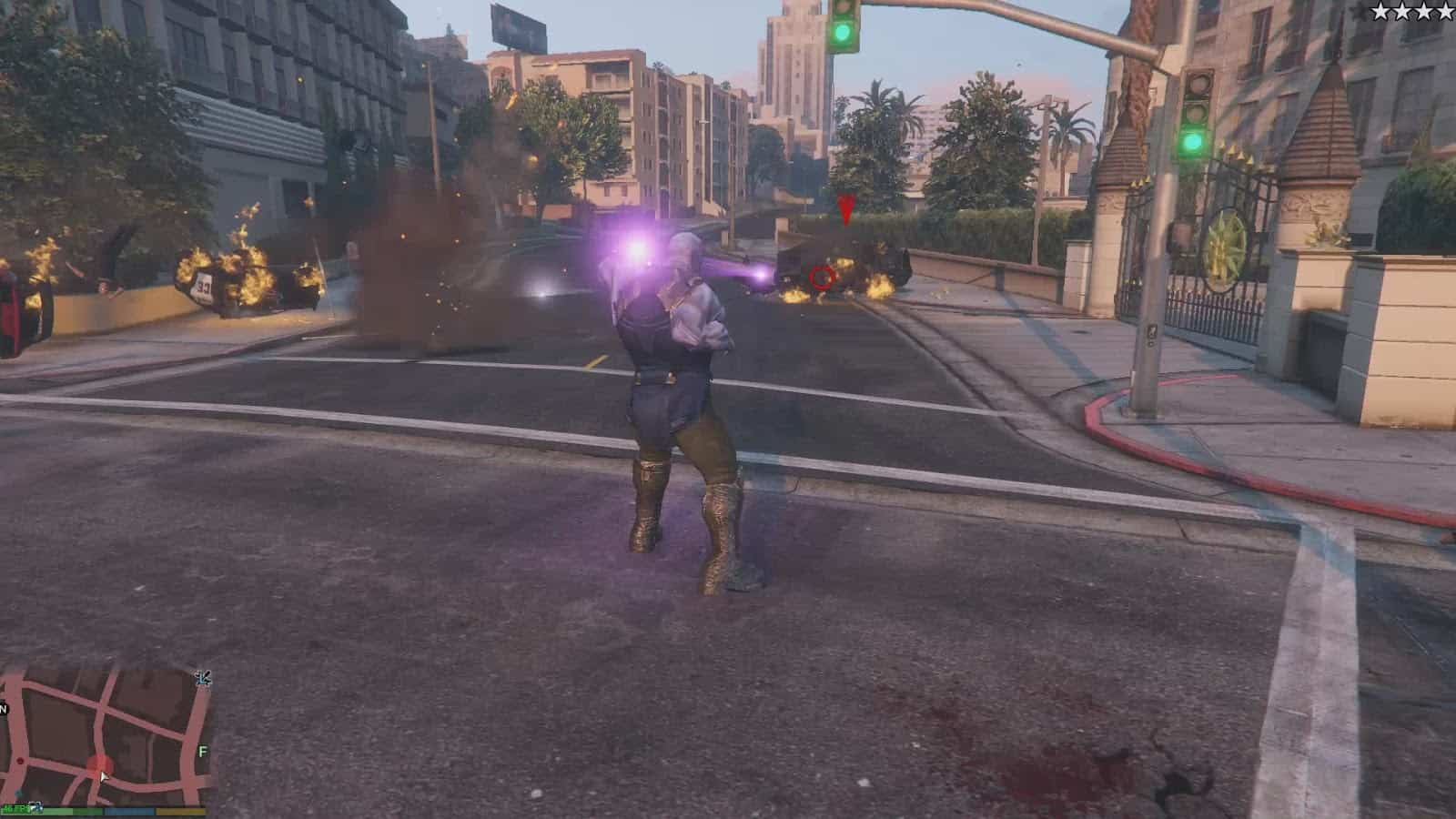 GTA 5 Meets Avengers: Infinity War's Thanos - GTA BOOM